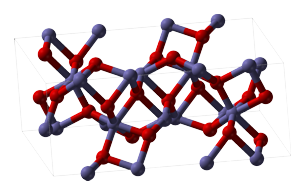 Molecular structure of Aluminium Oxide. This is a